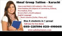 Ahnaf Group Tuition Center in Karachi | Private tutor in Karachi, Pakistan