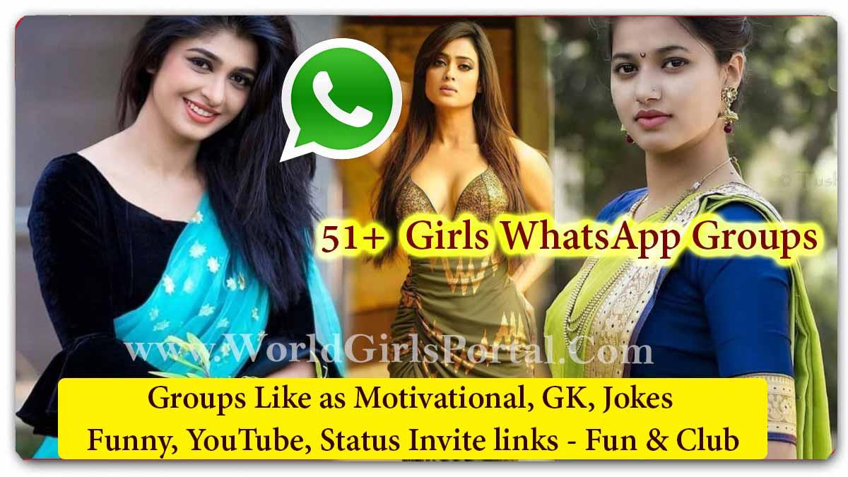 51 Girls WhatsApp Groups for Motivational GK Jokes Funny YouTube Status Invite links - World Social Media Portal