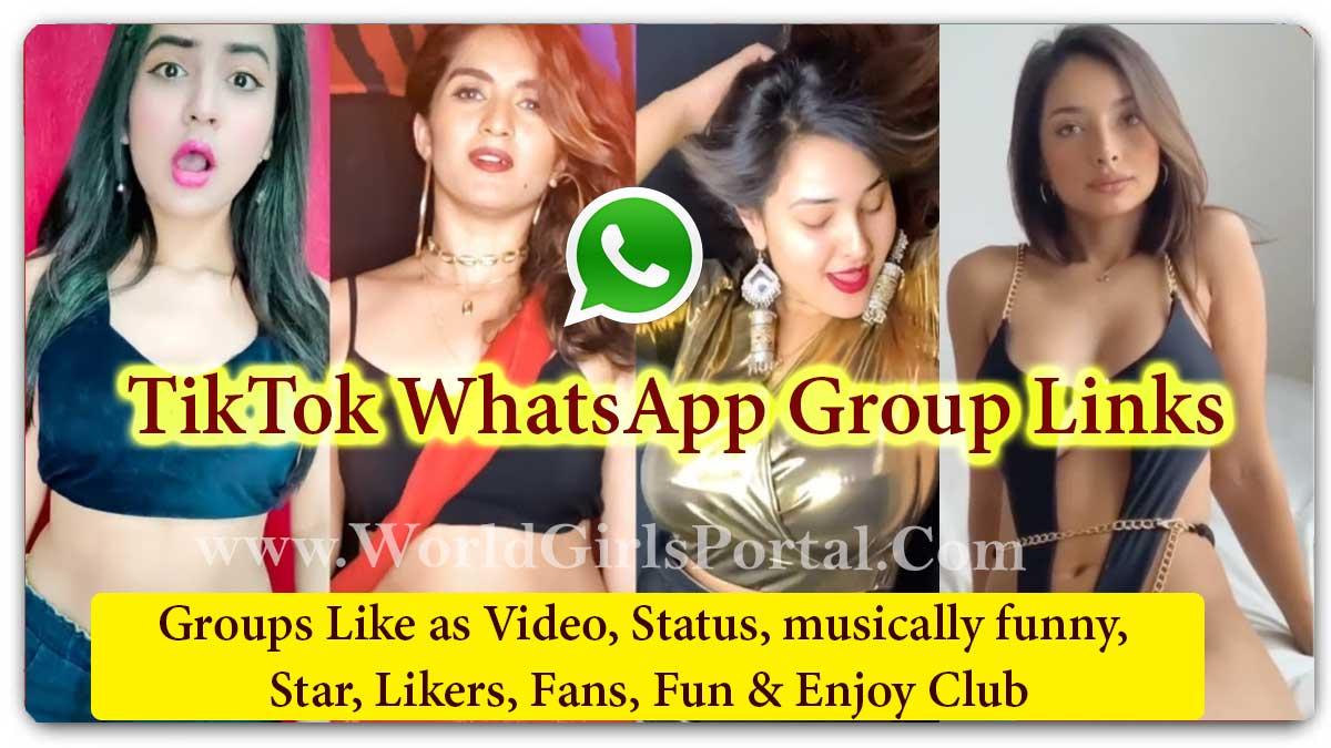 TikTok WhatsApp Group Links - Video, Status, musically funny, Star, Likers, Fans - World Fun Portal