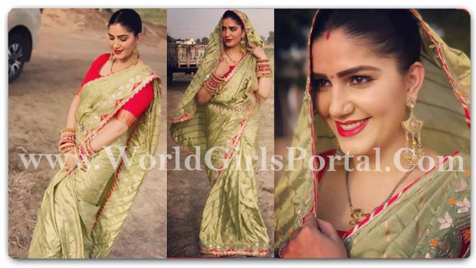 Sapna Choudhary Traditional Saree look: The perfect matching accessory for the saree is not the jewellery but your smile - Haryanvi Dancer